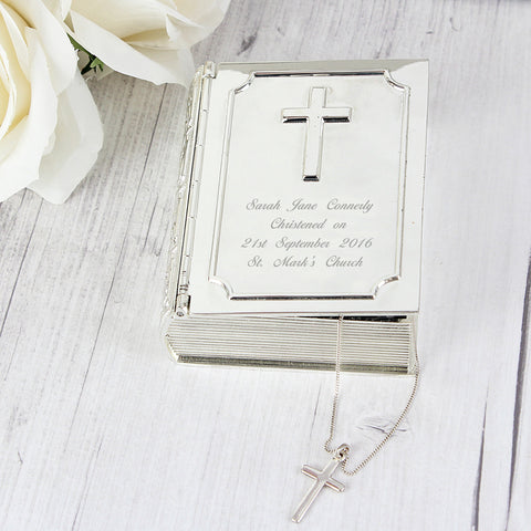 Personalised Bible Trinket Box Gift