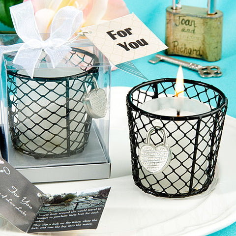 Romantic Love Locks Candle Favours