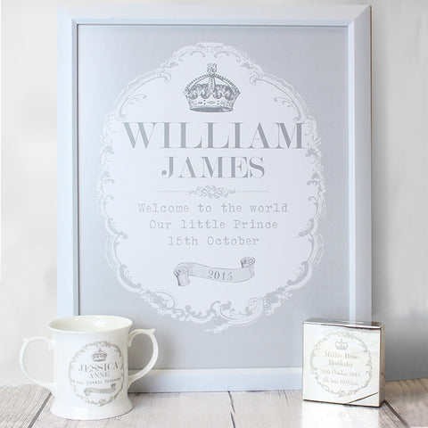 Personalised Royal Crown Framed Poster Gift