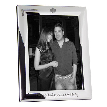 Happy Ruby Anniversary Photo Frame Gift