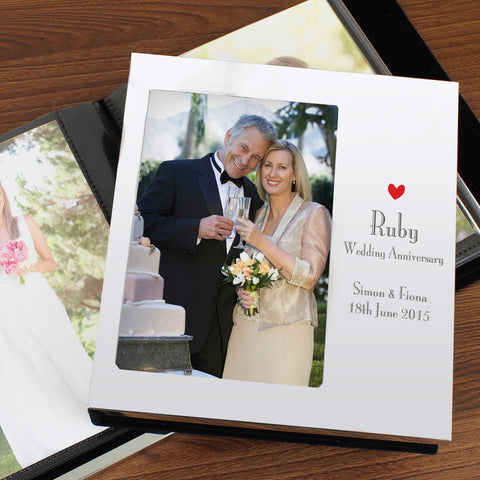 Personalised Ruby Anniversary Photo Album