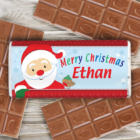 Personalised Santa Chocolate Bar Present
