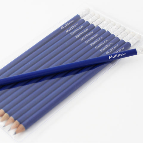 Personalised Name Only Blue Pencils Present