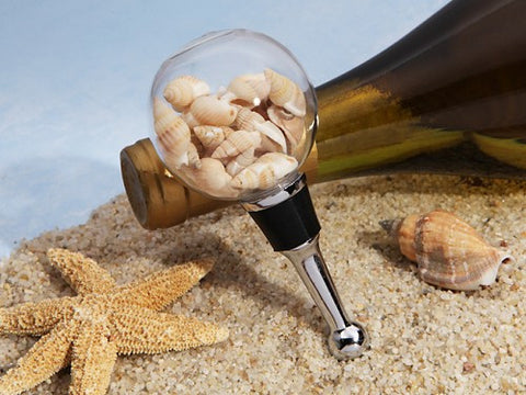 Sea Shell Bottle Stopper Favour 6PK