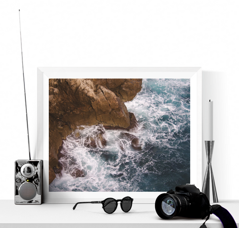 Sea and Rocks Photograph Printable
