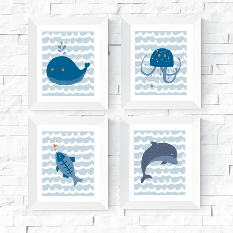 Under the Sea Wall Art Printables Set of 4