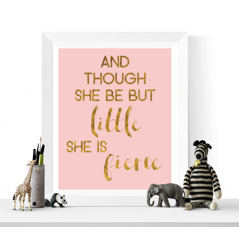 She is Fierce Art Printable
