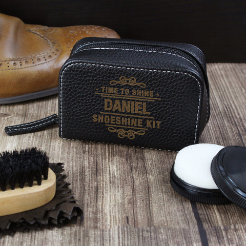 Personalised Time to Shine Shoe Shine Kit