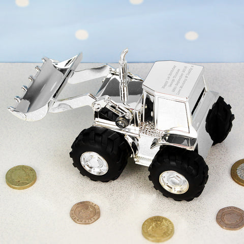 Personalised Digger Money Box Gift