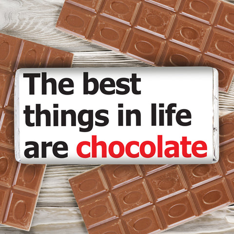 Personalised Best Things Slogan Chocolate Bar