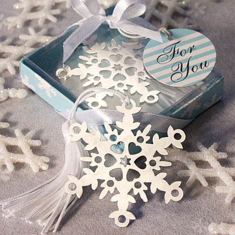 Snowflake Bookmark Favours