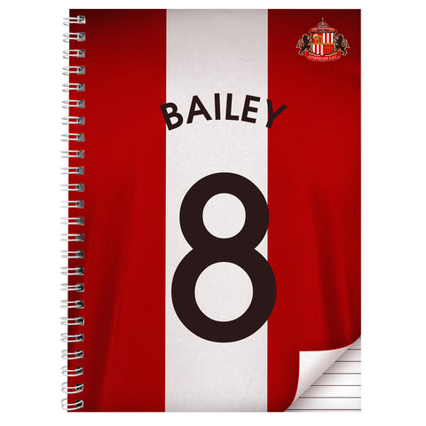 Personalised Sunderland A4 Notebook Gift