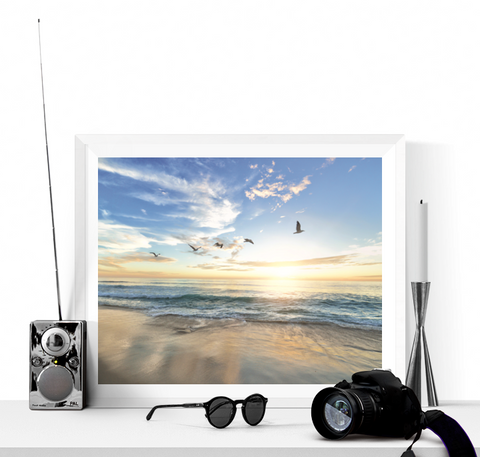 Beach at Sunrise Photograph Printable