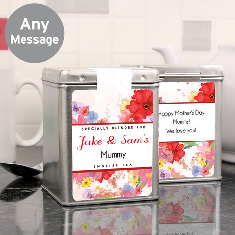 Personalised Beautiful Blossom Tea and Tin