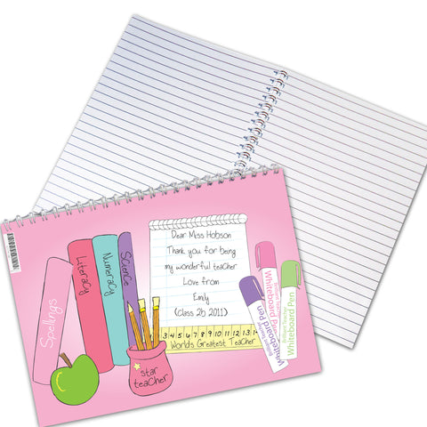 Personalised Female Teacher Notebook