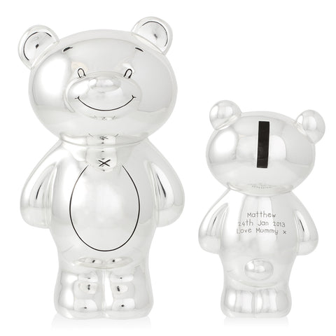 Personalised Teddy Bear Money Box Gift