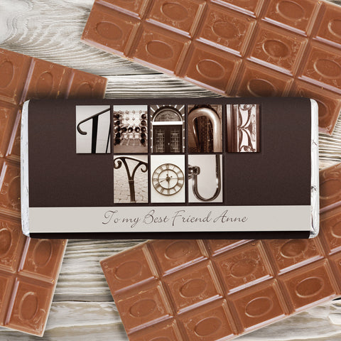 Personalised Affection Art Thank You Chocolate Bar Gift