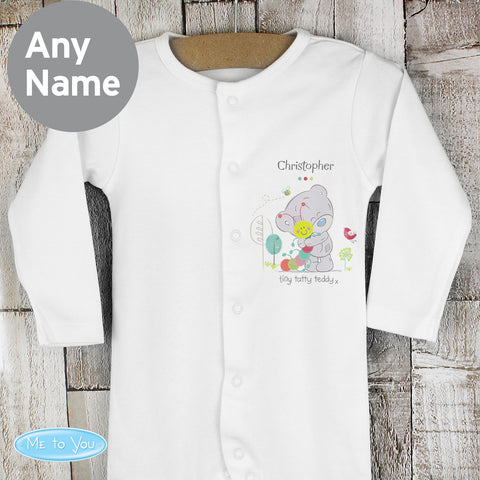 Personalised Tiny Tatty Teddy Cuddle Bug Baby Grow