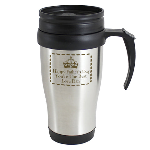 Personalised Crown Travel Mug Present