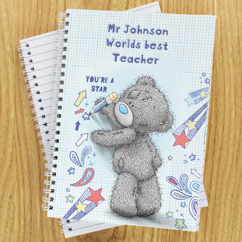 Personalised Me to You Teacher Notebook Gift