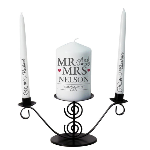 Personalised Mr and Mrs Unity Candles