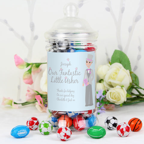 Personalised Fabulous Usher Chocolate Balls Jar Gift