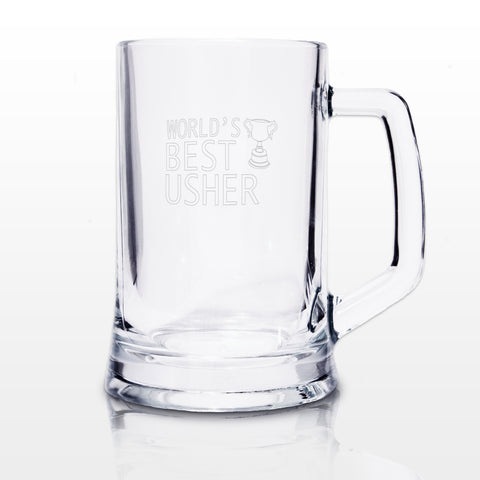 World's Best Usher Tankard Gift