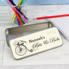 Personalised Vintage Pencil Tin with Colouring Pencils