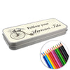 Personalised Vintage Pencil Tin with Colouring Pencils UK