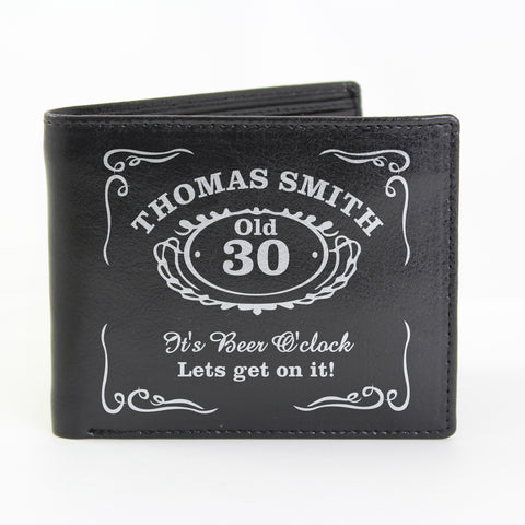 Personalised Black Classic Whisky Wallet