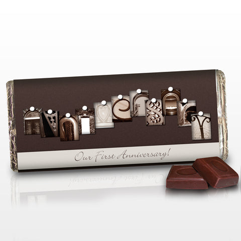 Personalised Affection Art Anniversary Chocolate Bar Gift