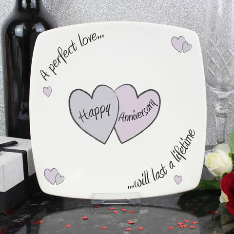 Perfect Love Wedding Anniversary Plate Gift