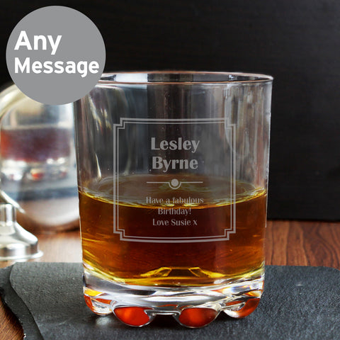 Personalised Art Deco Whiskey Glass