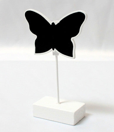 White Butterfly Blackboard Place Card Holders