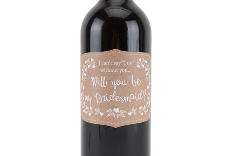 Will You be My Bridesmaid Wine Labels
