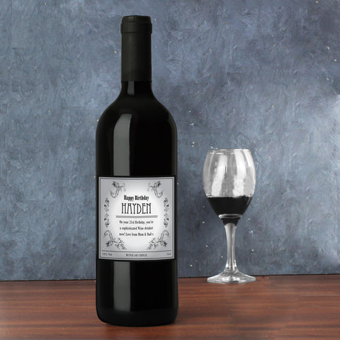 Personalised Vine Red Wine Gift