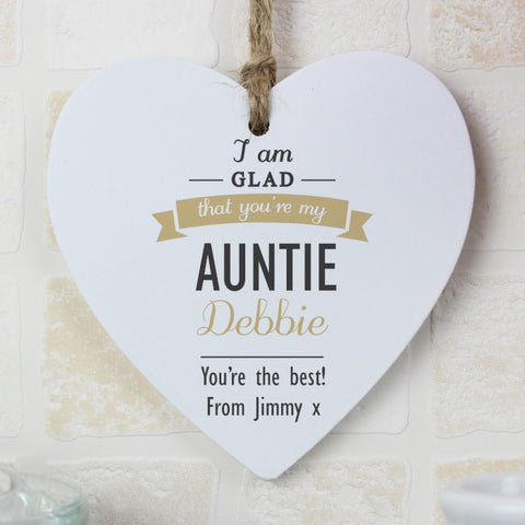 Personalised I Am Glad Heart Decoration