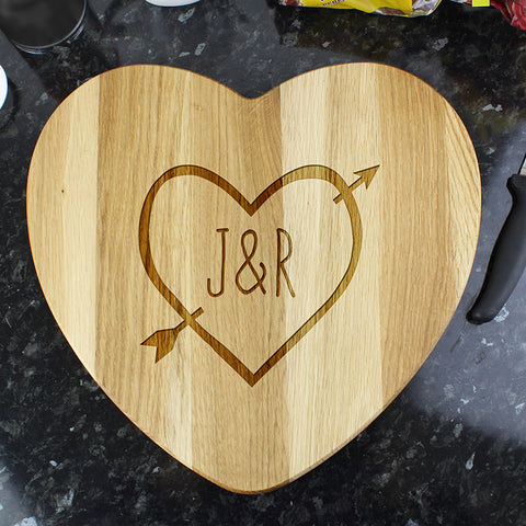 Personalised Heart Wood Carving Chopping Board