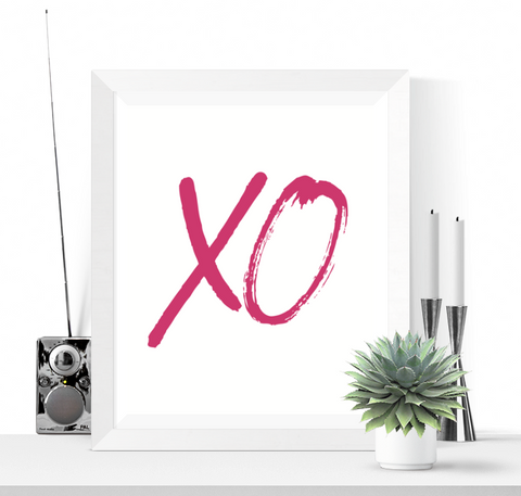 XO Art Printable Pink Yarrow