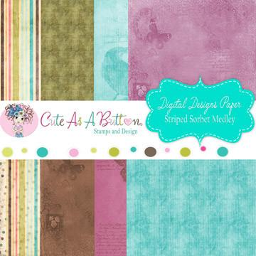 PolkaDot Sorbet Medley Digital Papers by Cute As A Button Designs