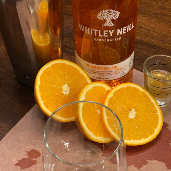 orange slices, gin and honey syrup