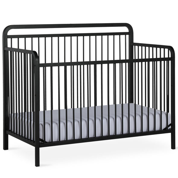 Juniper 4-in-1 Convertible Metal Crib - Matte Black - N/A