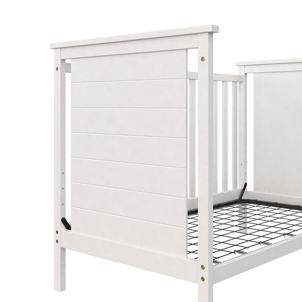 Amelia 3-in-1 Convertible Crib - White - N/A