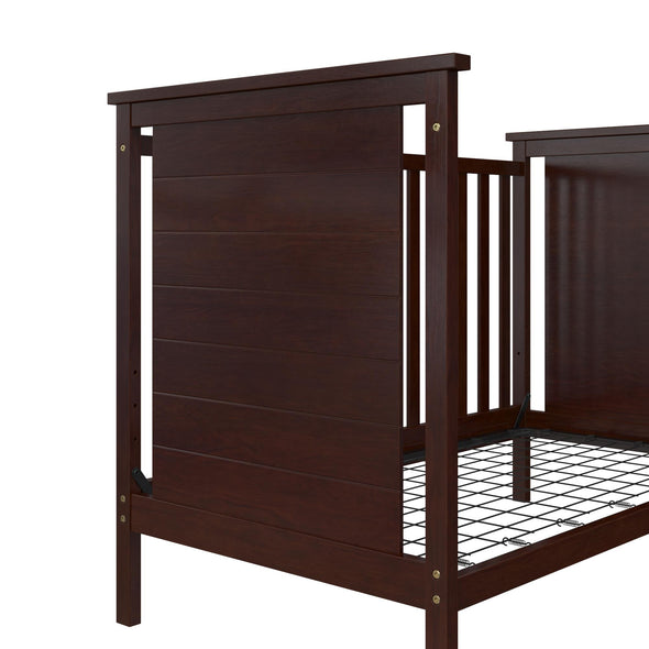Amelia 3-in-1 Convertible Crib - Espresso - N/A