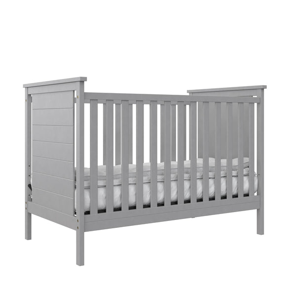 Amelia 3-in-1 Convertible Crib - Gray - N/A