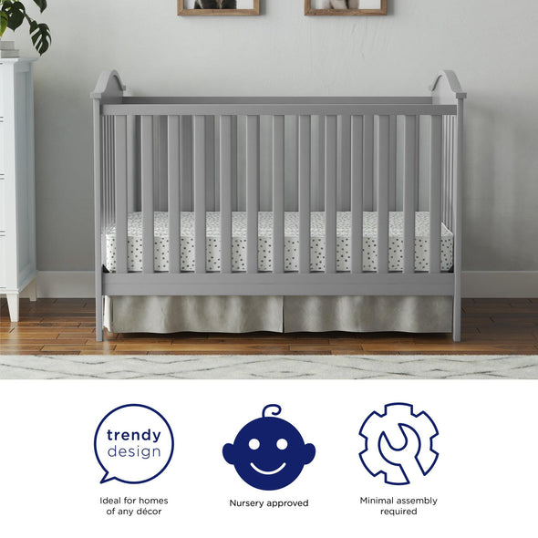 Adele  3-in-1 Convertible Crib - Gray - N/A
