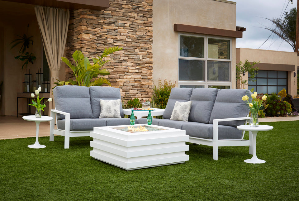 Outdoor Patio Furniture for sale in North Port, Englewood, Venice & Sarasota Florida - Indigo Pool Patio BBQ - Outdoor Living - Couch, Bar, Ledge Lounger, Fire Table, Fire Pit