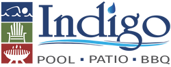 Indigo Pool Patio BBQ Logo. Swimming Pool builder in North Port, Englewood, Venice & Sarasota FL. Outdoor Furniture, Outdoor Kitchens and BBQ grills & smokers. Pools, spas and hot tubs for sale.