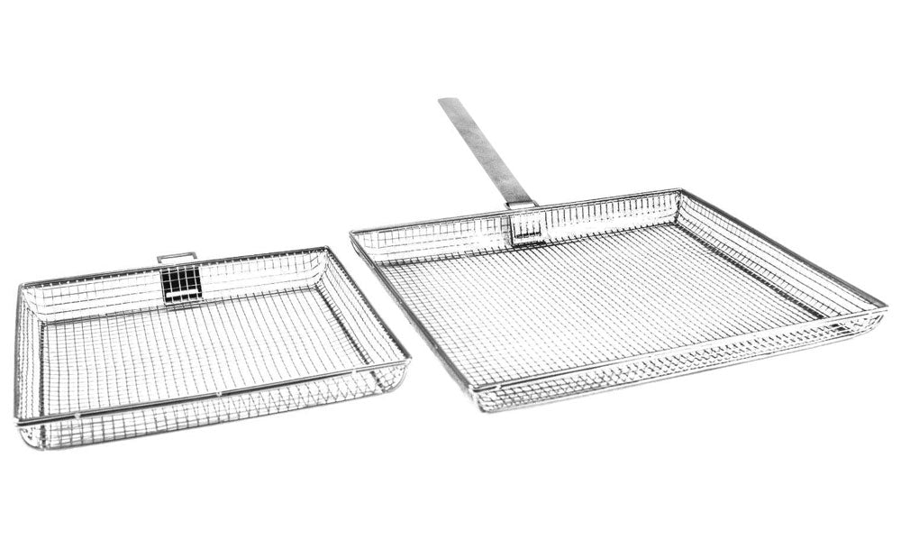 Mesh Grill Baskets with Removable Handle - Indigo Pool Patio BBQ