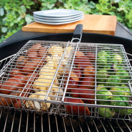4 Compartment Grill Basket - Indigo Pool Patio BBQ